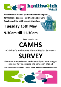 CAMHS Survey Poster